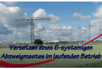 110kV Freileitungsbau - Video